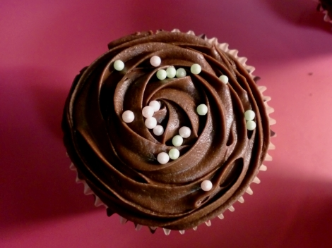 Sjoko-cupcakes