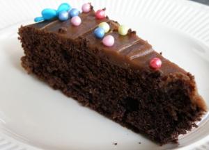 Sunkost sjokoladekake