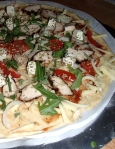 Pizza med grillsaus