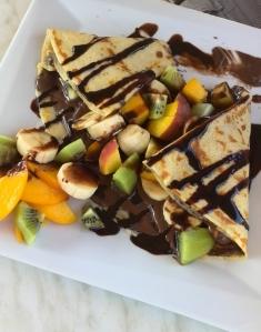Pannekake med frukt