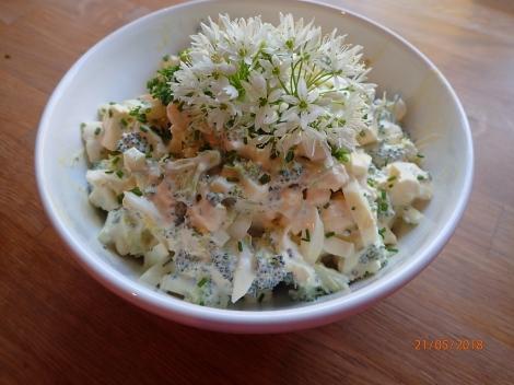 Blomkål/brokkolisalat